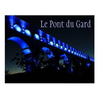 Le Pont du Gard Aqueduct Bridge, Paris France Postcard