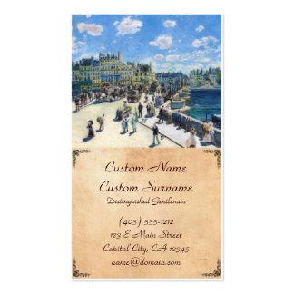 Le Pont-Neuf, Paris Pierre Auguste Renoir painting Business Card