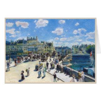 Le Pont-Neuf, Paris Pierre Auguste Renoir painting Card