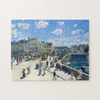 Le Pont-Neuf, Paris Pierre Auguste Renoir painting Jigsaw Puzzle