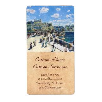 Le Pont-Neuf, Paris Pierre Auguste Renoir painting Label