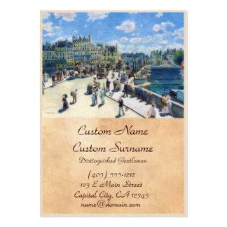 Le Pont-Neuf, Paris Pierre Auguste Renoir painting Large Business Card