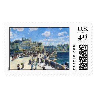 Le Pont-Neuf, Paris Pierre Auguste Renoir painting Postage