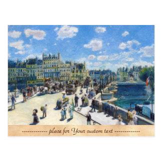 Le Pont-Neuf, Paris Pierre Auguste Renoir painting Postcard