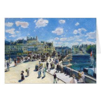 Le Pont-Neuf, Paris Pierre Auguste Renoir painting Stationery Note Card