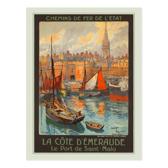 Le Port de Saint-Malo Postcard