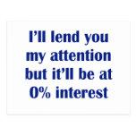 Le prestaré mi atención postales