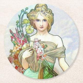 Le Printemps c1895 Round Paper Coaster