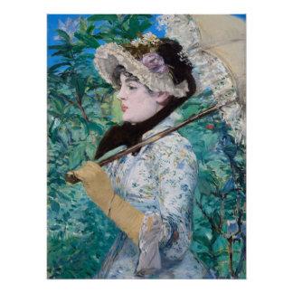 Le Printemps Édouard Manet Impressionist Painting Poster