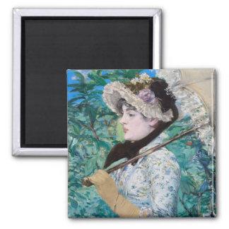 Le Printemps Manet Fine Art Painting Magnet