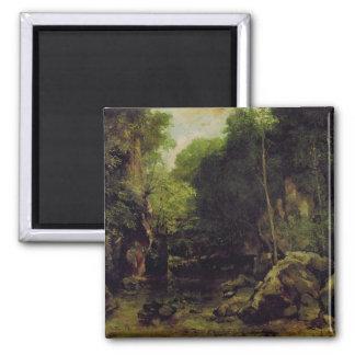 Le Puits-Noir, Doubs 2 Inch Square Magnet