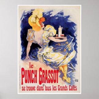 Le Punch Grassot Vintage Wine Drink Ad Art Poster