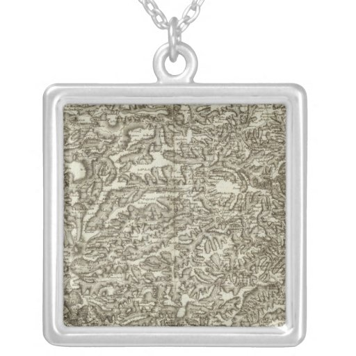 Le Puy Square Pendant Necklace