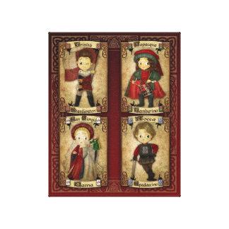 Le Quattro Contrade Canvas Print