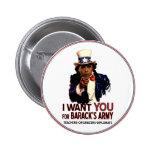 Le quiero - botón político de Obama Pins