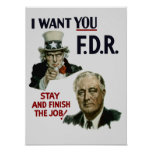 Le quiero FDR -- Tío Sam WWII Impresiones