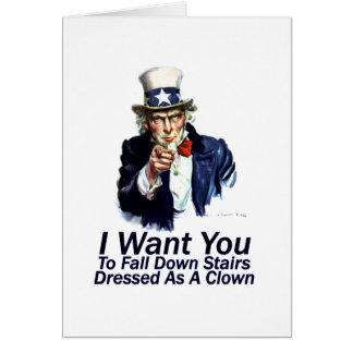 Le quiero:  Para caer abajo escaleras Tarjeta De Felicitación