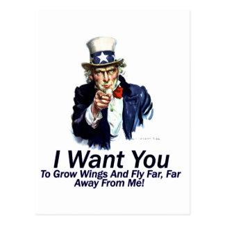 Le quiero:  Para crecer las alas Tarjeta Postal