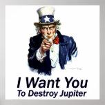 Le quiero:  Para destruir Júpiter Impresiones