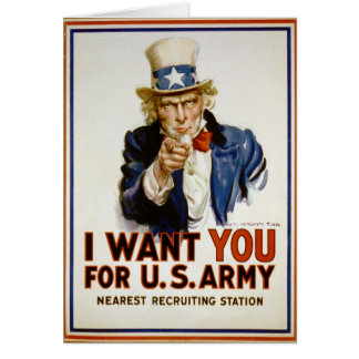 Le quiero para el ejército americano De James Tarjeta De Felicitación
