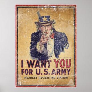 Le quiero para el ejército americano posters