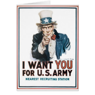 ¡Le quiero para el Ejército del EE. UU.! Tarjeta De Felicitación