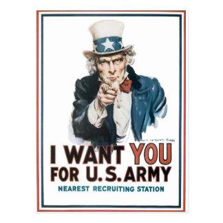 ¡Le quiero para el Ejército del EE. UU.! Tarjetas Postales