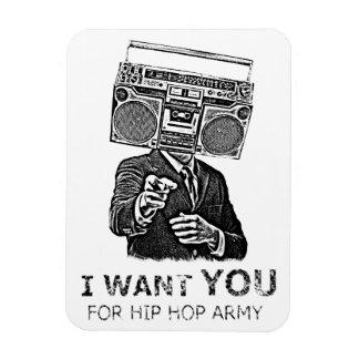 Le quiero para el ejército del hip-hop iman de vinilo