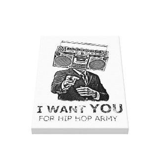 Le quiero para el ejército del hip-hop lienzo envuelto para galerías