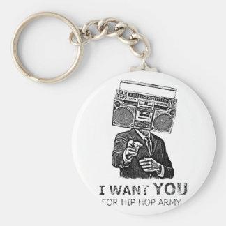 Le quiero para el ejército del hip-hop llavero redondo tipo pin