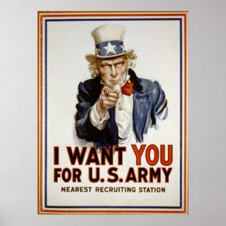 Le quiero para el poster de reclutamiento del póster