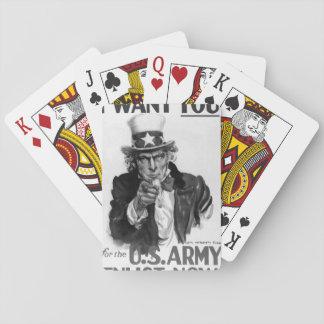 Le quiero para la imagen de los E.E.U.U. Army_War Baraja De Cartas