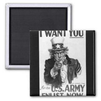 Le quiero para la imagen de los E.E.U.U. Army_War Imán Cuadrado