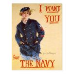 Le quiero para la marina de guerra postal