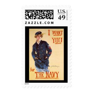 Le quiero para la marina de guerra franqueo