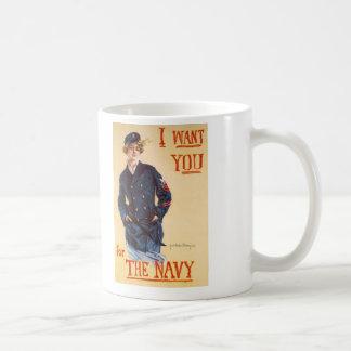 Le quiero para la marina de guerra tazas