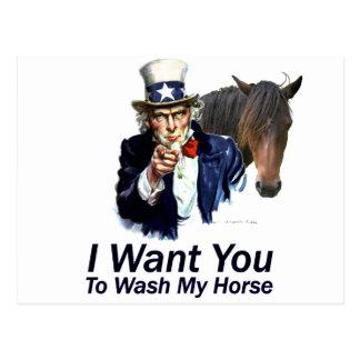 Le quiero: Para lavar mi caballo Postales