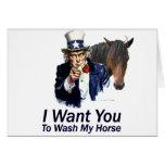 Le quiero: Para lavar mi caballo Tarjeton