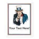 Le quiero personalizar del tío Sam su texto Postal
