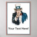 Le quiero que el tío Sam añade su texto modificado Impresiones