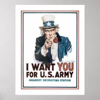 """""""Le quiero"""" tío Sam (la frontera) Poster"""