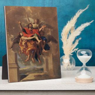 Le Ravissement de Saint Paul 1650 by Poussin Display Plaque
