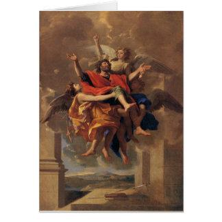 Le Ravissement de Saint Paul 1650 by Poussin Greeting Card