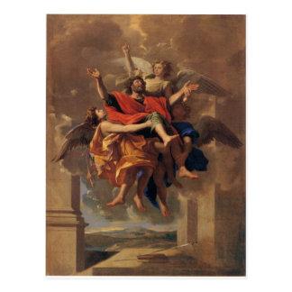 Le Ravissement de Saint Paul 1650 by Poussin Postcard