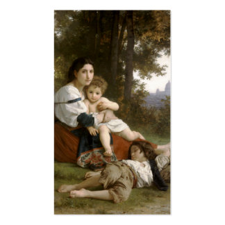 Le Repos (The Rest) William-Adolphe Bouguereau Business Card Template