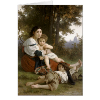Le Repos (The Rest) William-Adolphe Bouguereau Greeting Card