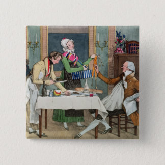 Le Restaurant, pub. by Rodwell and Martin, 1820 (c Pinback Button
