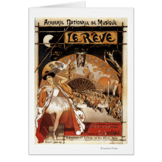 Le Reve Ballet Performance Opera House Greeting Card