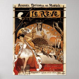 Le Reve Ballet Performance Opera House Poster