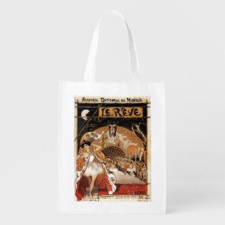 Le Reve Ballet Performance Opera House Grocery Bag